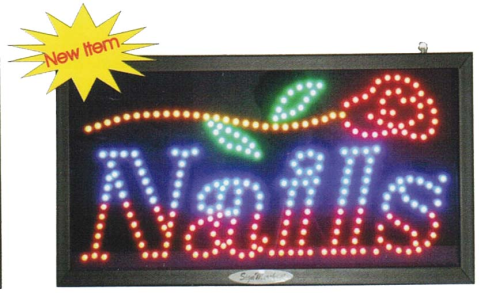 LED Nails Sign (Flower Design)