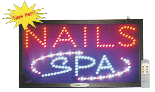 LED Nails & Spa Sign