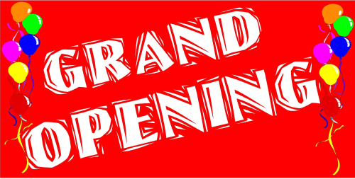 "High Quality ""Grand Opening"" Banner (Red/White)"